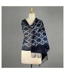 silk shawl, 'starry night' (india)