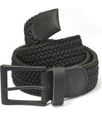 cinturón trenzado negro doshka