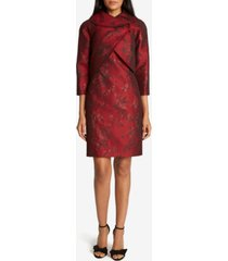 tahari asl wrap jacket jacquard dress suit