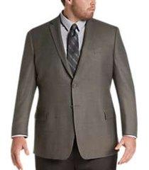 pronto uomo platinum executive fit sport coat taupe check