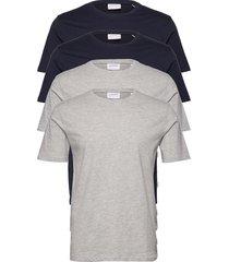 basic tee s/s t-shirts short-sleeved grå lindbergh