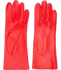 manokhi fitted gloves - red
