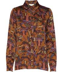 cardi shirt blus långärmad multi/mönstrad minus