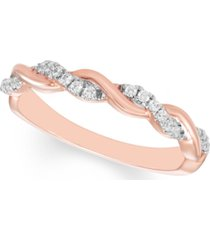 diamond braided band (1/6 ct. t.w.) available in 10k gold, 10k white gold or 10k rose gold