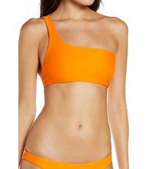 jade swim apex one-shoulder bikini top, size medium in nectar at nordstrom