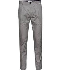 tapered pleat light, kostuumbroek formele broek grijs calvin klein