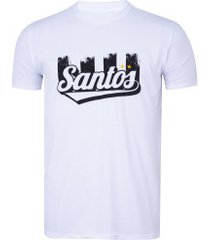 camiseta do santos manto fc - masculina - branco