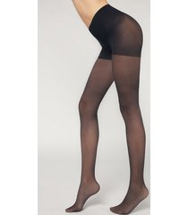 calzedonia 30 denier total shaper tights woman blue size 4