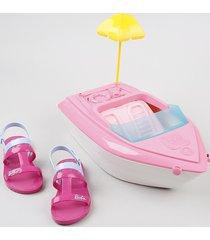 sandália infantil grendene barbie vem com iate rosa escuro