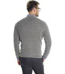 sweter farley półgolf szary