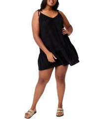 trendy plus woven mia tiered tunic dress