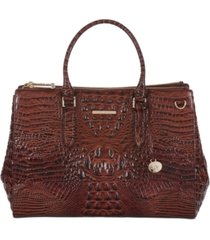 brahmin blake melbourne embossed leather satchel