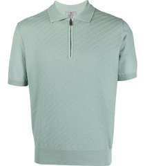 canali zip-up polo shirt - green