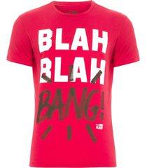 camiseta masculina basic blah blah - vermelho