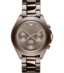 mvmt women's chronograph getaway taupe-tone bracelet watch 38mm