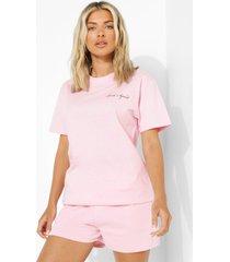 bridal squad t-shirt, pale pink