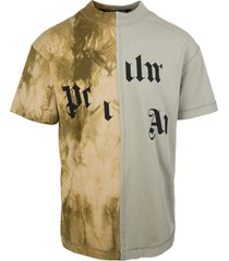 man multicolor military logo t-shirt