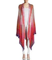 fringed chevron shawl