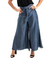calca jeans equivoco pantacourt feminina