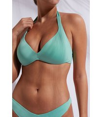 calzedonia graduated triangle swimsuit top indonesia eco woman green size 5