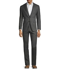 regular-fit wool blend suit