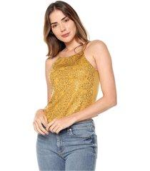 blusa lentejuelas amarilla mítica