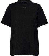 black boyfriend tee t-shirts & tops short-sleeved svart aim'n