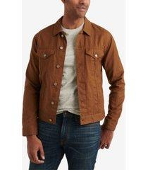 lucky brand men's linen blend trucker jacket