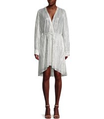 iro women's shimmer drawstring-waist dress - silver - size 36 (4)