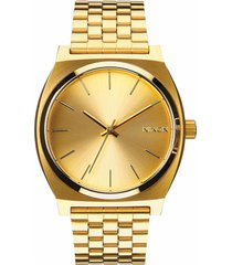 nixon the time teller watch, 37mm in gold at nordstrom