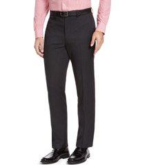izod men's classic-fit charcoal sharkskin suit pants