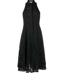 erika cavallini lace swing dress - black