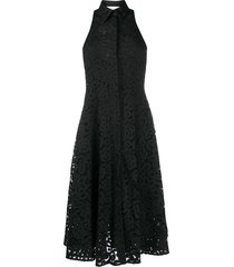 erika cavallini lace swing dress - black