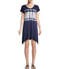 tie-dye mini t-shirt dress