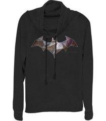 fifth sun dc batman geometric bat logo cowl neck women's pullover fleece
