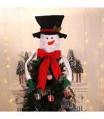 decoración del árbol de navidad primeros ornamento de navidad colgante de zapatos de santa muñeco de nieve del sombrero - negro