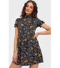 ax paris short sleeve flower mini dress loose fit dresses