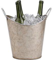 mind reader copper plated galvanized beverage tub