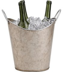 mind reader copper plated galvanized beverage tub