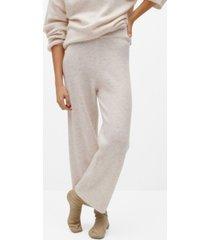 mango women's knit pants