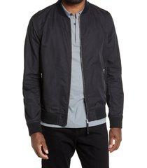 men's allsaints udan slim fit bomber jacket, size medium - black