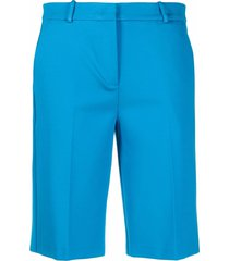 pinko jetted pocket cotton shorts - blue