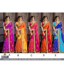 bollywood sari designer indian party festival women wedding dress sn-17
