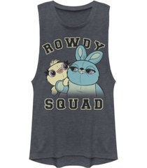 disney pixar juniors' toy story 4 rowdy squad festival muscle tank top