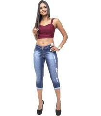 calça jeans credencial cropped layara feminina