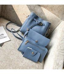 bolsos de mujer,bolso bandolera, hombro de borla de-azul