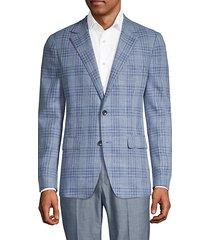 fairway & marlane slim-fit plaid blazer