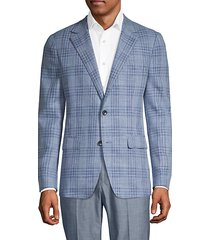 fairway & marlane slim-fit plaid blazer