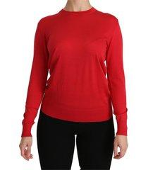 crewneck top silk sweater
