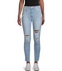joe's jeans women's distressed skinny jeans - budapest - size 24 (0)